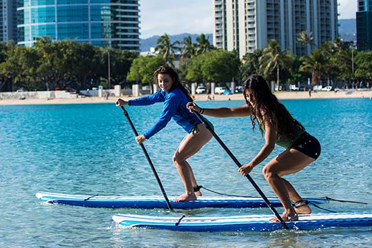 Paddle-boarding, Hawaii Pacific University, Hawaii Pacific