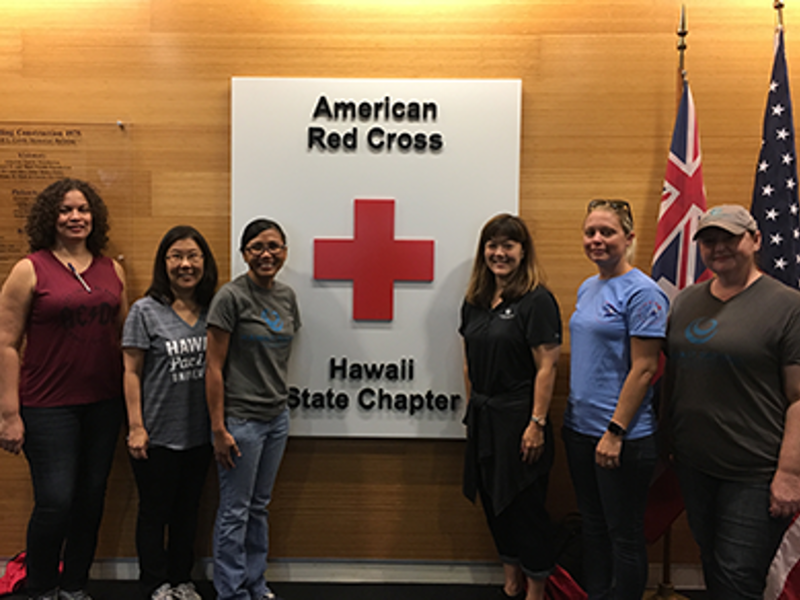 Red Cross Hawaii HPU group