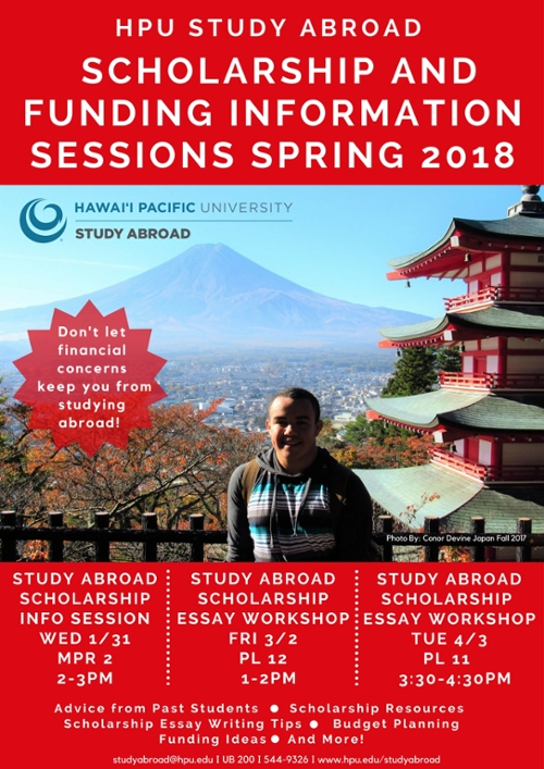 study abroad scholarship essay workshop